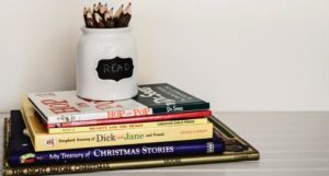 image of stack of children's books