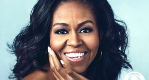 image of Michelle Obama from cover of Becoming
